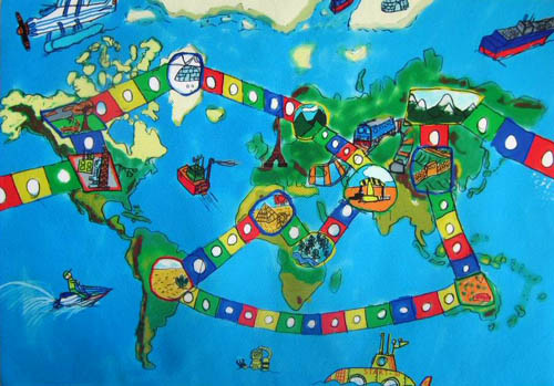 Barbara Petchenik Childrens World Map Drawing Competition - World map images