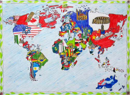 Barbara Petchenik Childrens World Map Drawing Competition - World map 2015