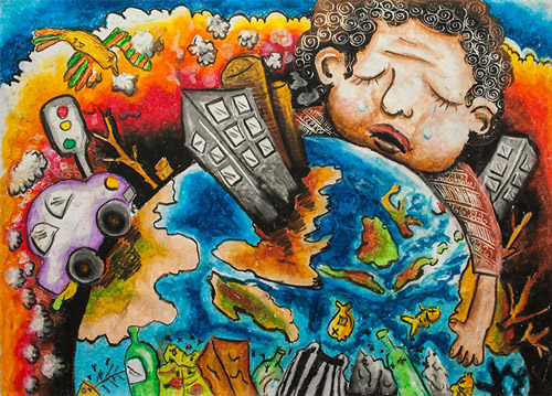 Barbara petchenik children s world map drawing competition for Save energy painting