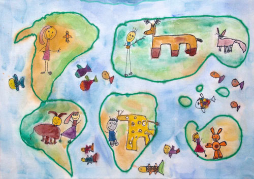 Barbara Petchenik Children S World Map Drawing Competition