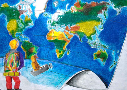 Barbara Petchenik Childrens World Map Drawing Competition - World map world map