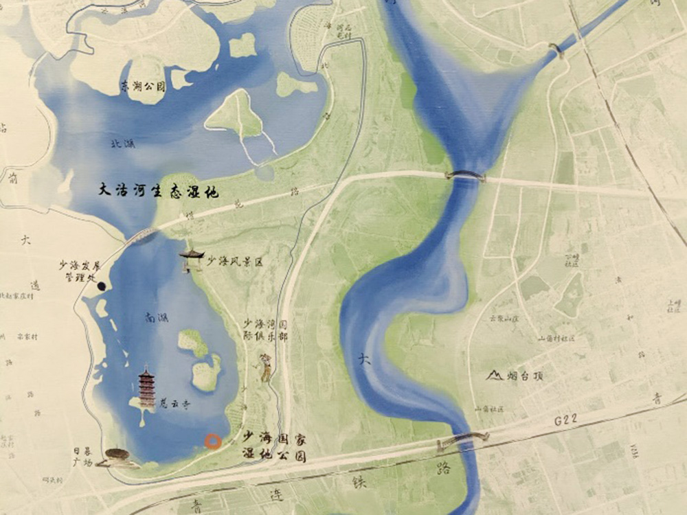 2nd place: Ecological Area Map of the Estuary Wetland of Dagu River (China)