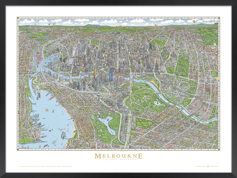 3rd place: The Melbourne Map (Australia)