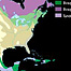 Map of vegetation – North & Central America