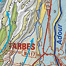 Extract of the Quaternary Geological Map showing the contrast between the glaciated mountains and their fluvial foothills in the Northern Pyrenees.