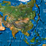 Asia: Natural Features. Continental maps showing the natural features allowed the students to gain a broad insight into physical appearance of the continent. Imagery was provided by WorldSat International Inc.