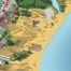 A detailed extract of the Sunny Beach map