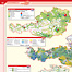 Example spread: Austria, services. This double page shows different types of public and private services in Austria. The maps are combined with typical photographs. They are grouped around a central map on tourism. Click in the image to zoom in.