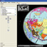 Screenshot of a globe view from the complementary CD (Geothek-Schulatlas): Thematic world maps can be projected onto a rotating virtual globe. Other features include name search, climate graphs, photographs and a compilation of statistical maps.