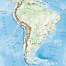 Physical Wall Map of South America. Click on the map to zoom in.