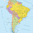 Political Wall Map of South America. Click on the map to zoom in.