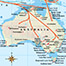 Possible migration paths and major archaeological sites of the first Australians