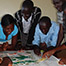 Testing the jigsaw puzzle prototype with students at Masinde Muliro University of Science and Technology (MMUST), Kakamega. (Photographer R. Joseph)