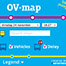 OV-map is a web map that display real-time public transport networks in the Netherlands.