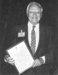 Rolf Böhme – delighted recipient of the Fellowship Award.
