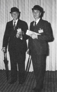 Harold Fullard and Roger Anson, Outgoing and Incoming Chairman of the Publications Committee in City dress.