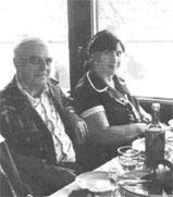 Professor and Mrs. Salichtchev aboard Wolga steamer during conference excursion 1976.