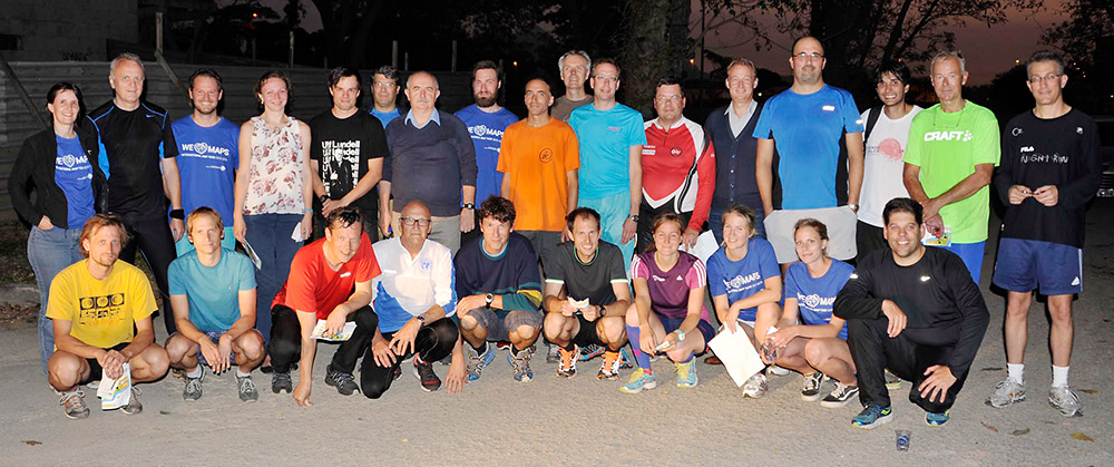 Participants of the orienteering event