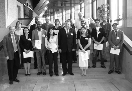 Travel Award recipients with members of the ICA officials