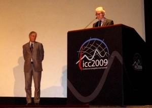 Ferjan Ormeling and William Cartwright at ICC 2009