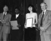 Left to right: F Ormeling, F Olufunmilayo Akinyemi, Cecilia Oka, and B Rystedt.