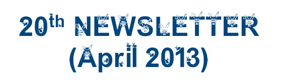 Newsletter 20, April 2013