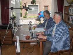 Peter and René van der Krogt photographing the finalist entries
