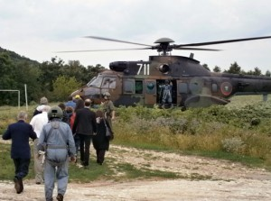 Evacuation of Participants of the 5th Jubilee International Conference on Cartography and GIS with helicopters throught to flash floods in the region of Varna in June 2014