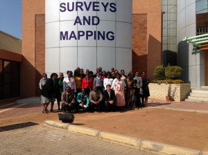Visit to Botswana Department of Survey and Mapping