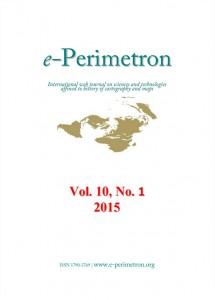 e-Perimetron 2015: Vol. 10 No. 1