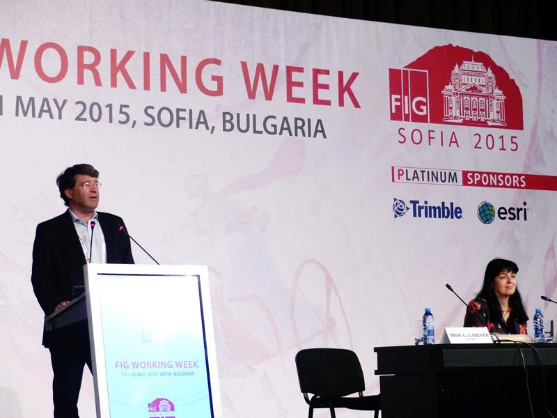 Georg Gartner (ICA president), Temenoujka Bandrova (president of the Bulgarian Cartographic Association)