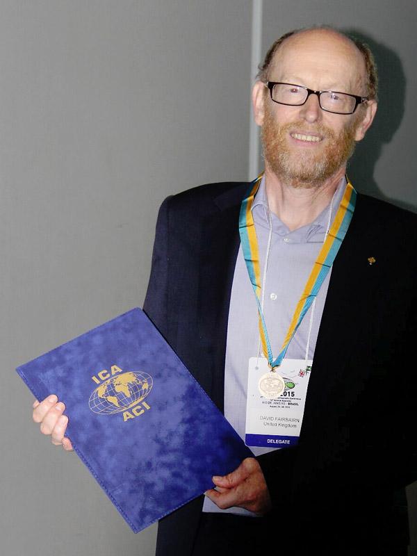 David Fairbairn receiving the ICA Honorary Fellowship