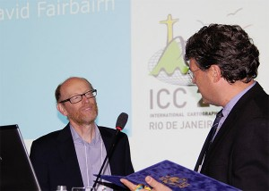 David Fairbairn receiving the ICA Honorary Fellowship
