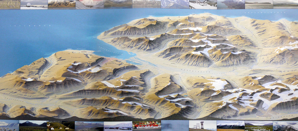 1st place paper maps, 2015: 3D Map Longyearbyen and environs (Norway)
