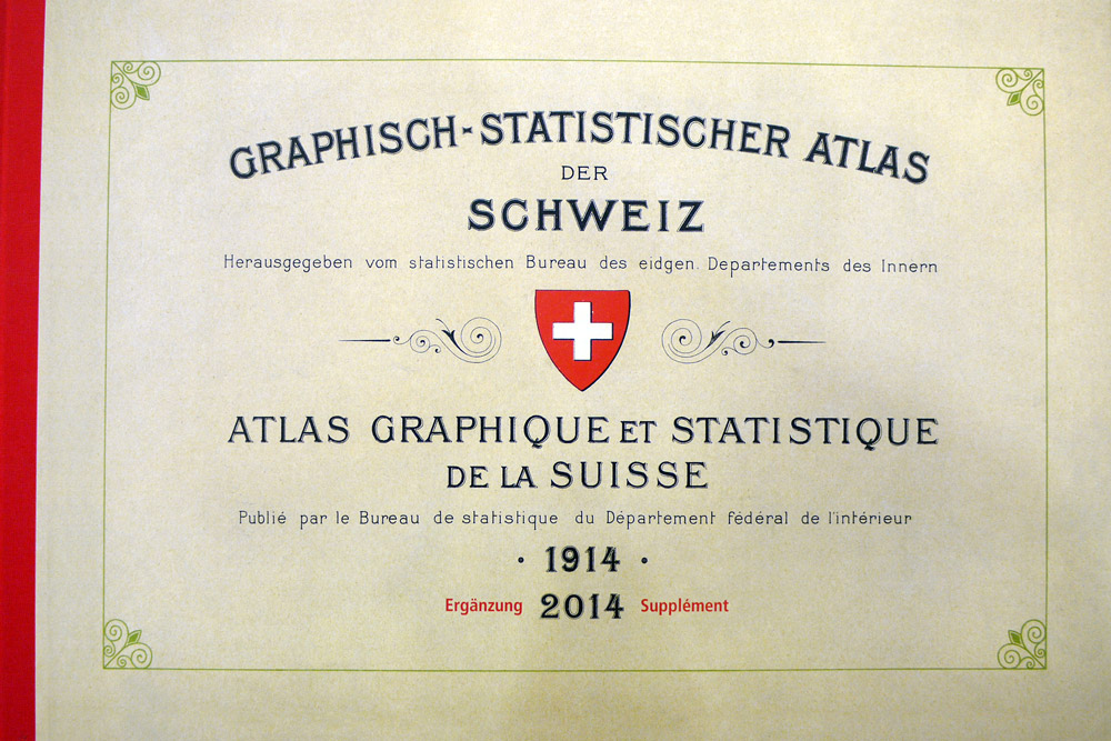Atlases, 2nd place: Graphical and Statistical Atlas of Switzerland 1914–2014 (Switzerland)
