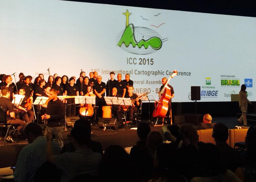 Orchestra playing the ICA anthem at ICC2015