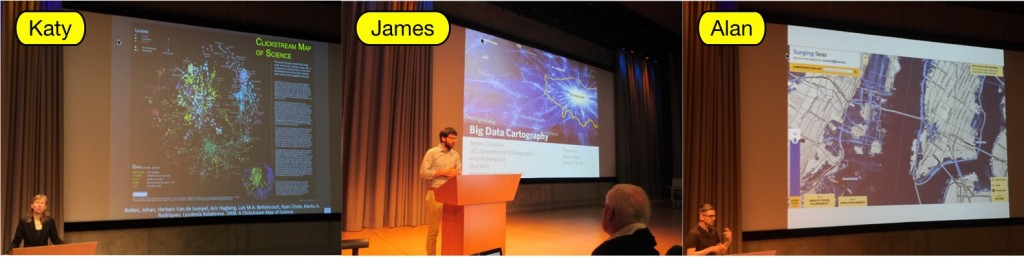 Data session: Katy Börner, James Cheshire and Alan McConchie