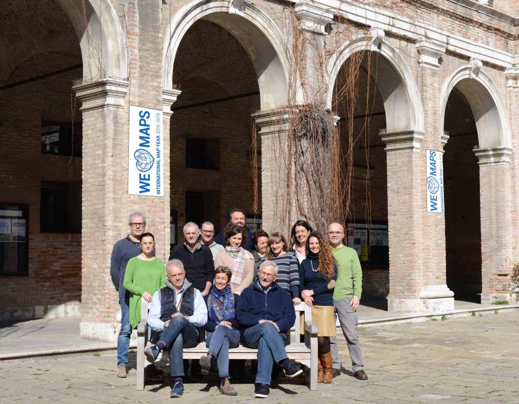 Evangelos Livieratos, currently visiting professor at the University IUAV of Venice, with colleagues from the ICA Cartoheritage Commission supporting IUAV Labs of photogrammetry and cartography & GIS.