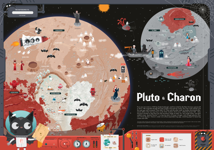 Pluto and Charon Map