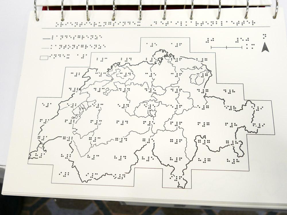 2nd place: Tactile Atlas of Switzerland (Switzerland)