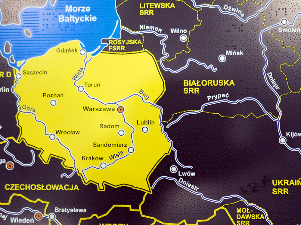 2nd place: Historical Atlas of Poland for blind and visually impaired (Poland)