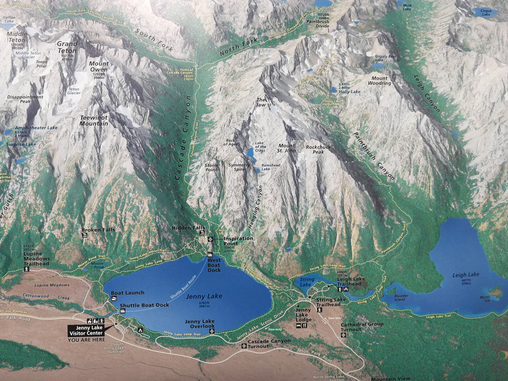 3rd place: Jenny Lake Hiking Map (USA)