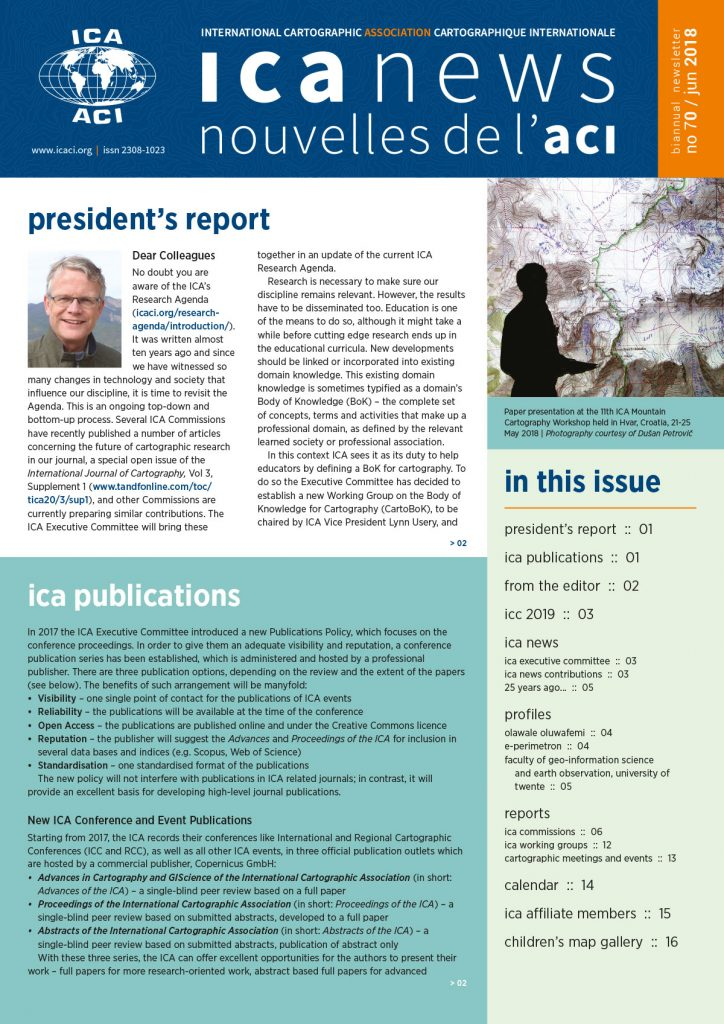 ICA News, Number 70, June 2018