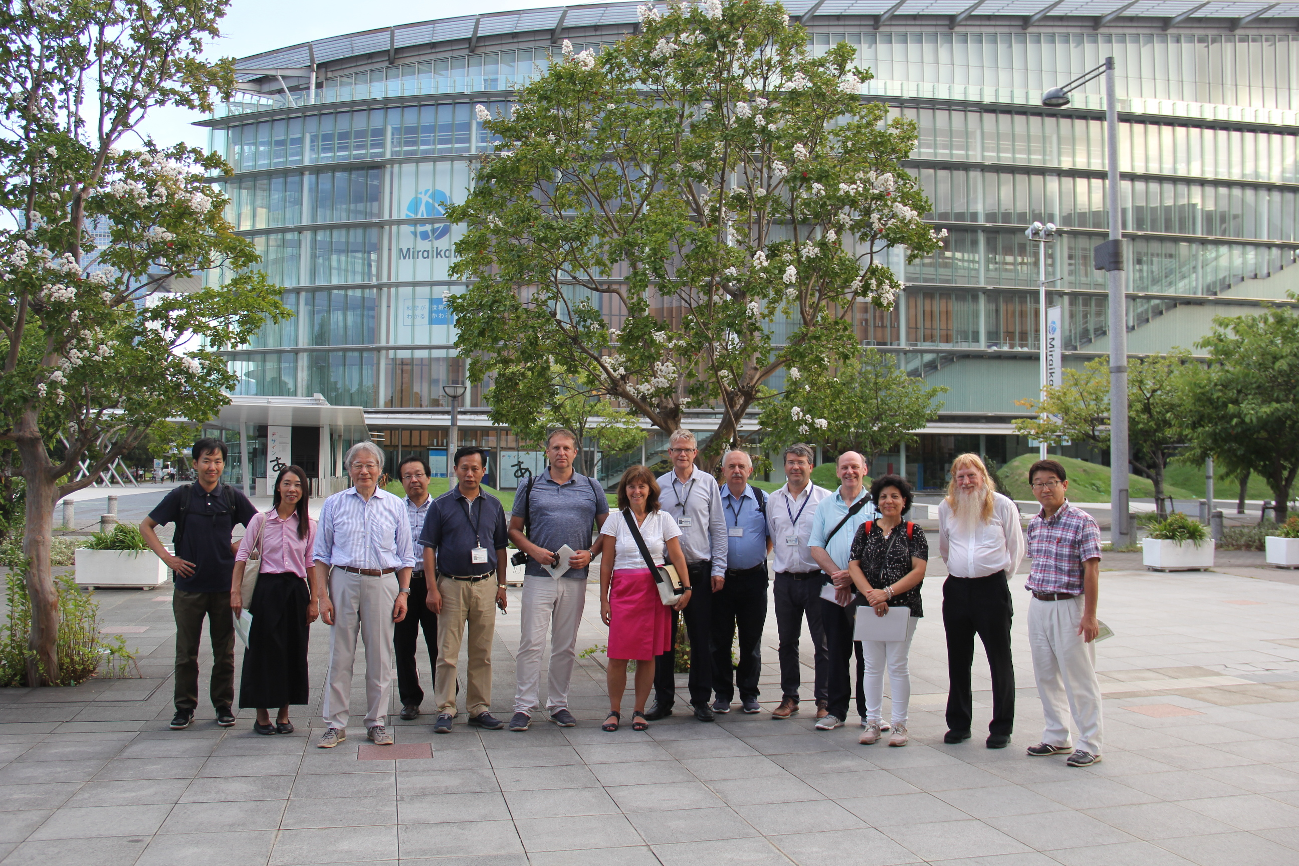 The Executive Committee and colleagues of the local committee at the site of ICC 2019 in Tokyo