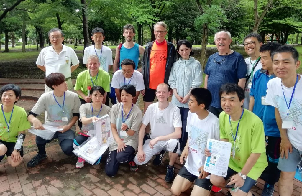 Group photo at the orienteering event