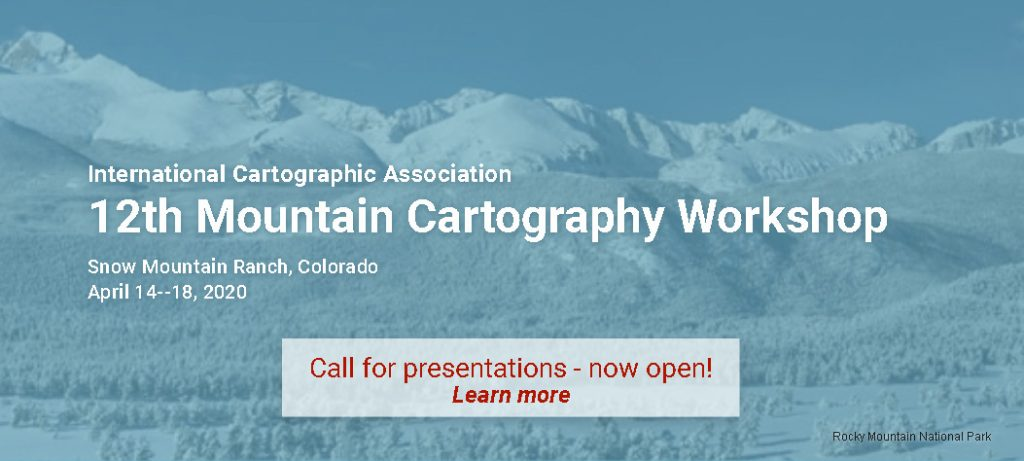 Banner 12th Mountain Cartography Workshop