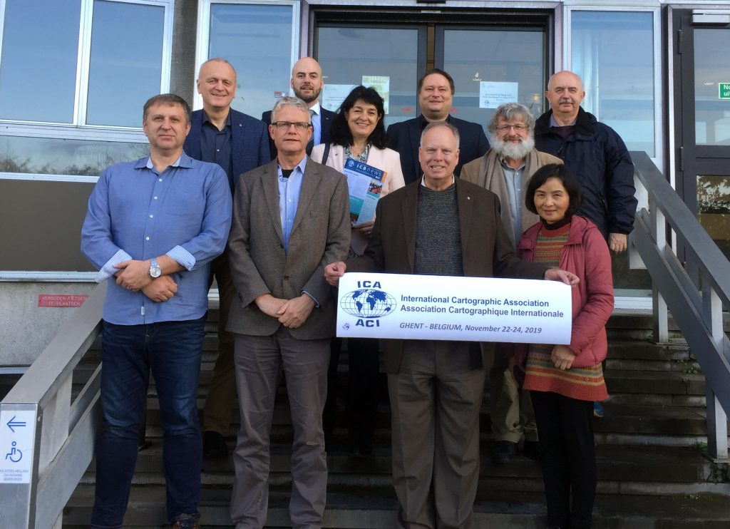 The ICA Executive Committee at the Commission Chair meeting in Ghent, Belgium