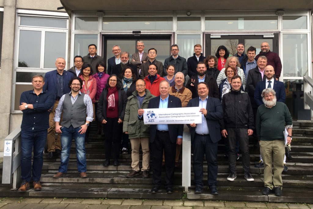 The ICA Executive Committee and Commission Chairs at the first meeting of the 2019–2023 term in Gent, Belgium